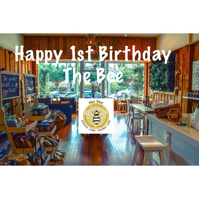 Can you Bee-lieve it's already been a year? Happy 1st Birthday @thebeewpb! Help them celebrate tonight 6-9pm with fresh drinks, music and specialty treats!