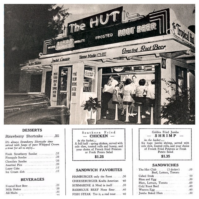 Looking for a quick place to grab some grub? In the 1950's you would probably be headed to