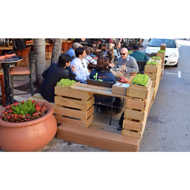 Day 16 of #31daysindowntownWPB: Come relax and enjoy this parklet that popped up in front of @roccos_tacos before it moves on to its next #DowntownWPB location. http://bit.ly/31DaysWPB