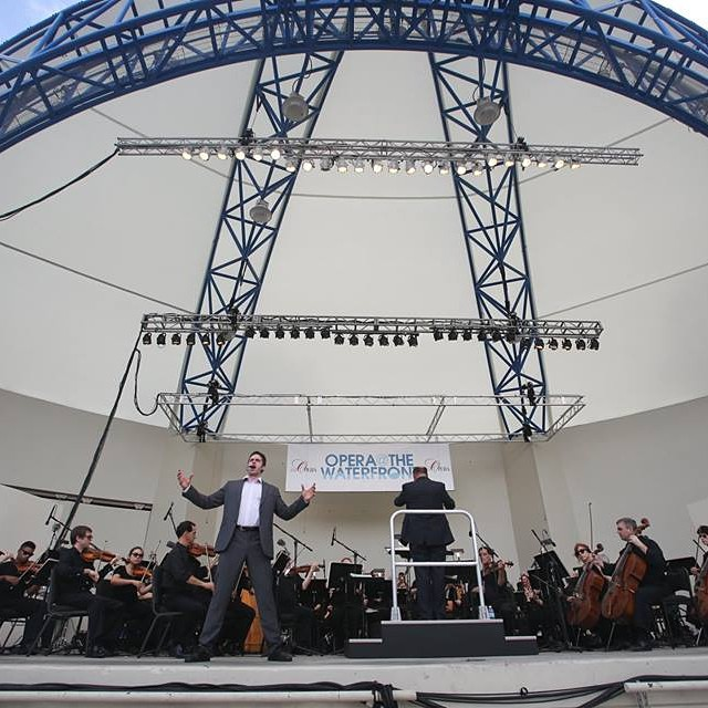 Day 13 of #31daysindowntownwpb: Head to #downtownwpb for Opera at the Waterfront! Open FREE to the public today 2:00pm - 3:30pm. bit.ly/31DaysWPB #ilovewpb