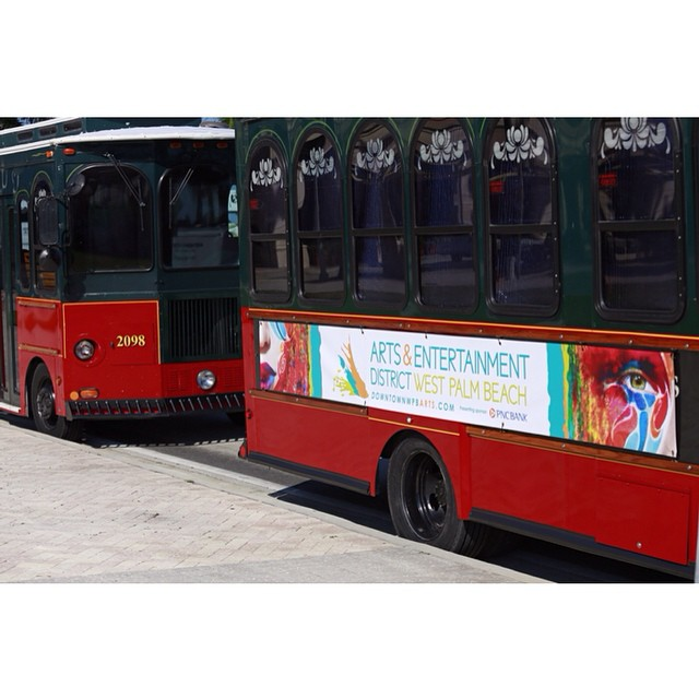 Day 17 of #31daysindowntownwpb: Hop aboard the Orange Line Trolley, your free ride to all @wpbaedistrict has to offer. http://bit.ly/31DaysWPB