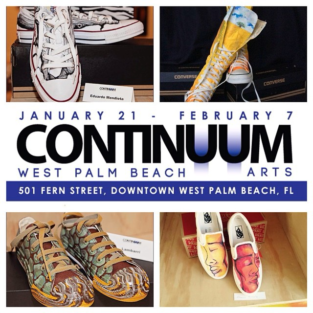 @continuumwpbarts kicks off tomorrow in #DowntownWPB with a VIP Black Tie & Sneakers event from 6-11 p.m. at 501 Fern St. Didn't make the guest list? Check again! All members of the public are invited to join the charitable event by donating a pair of sneakers, which will be given to Faith's Place Center for Education. bit.ly/ContinuumWPB #ContinuumWPB #WPBArts #artsynergypbc