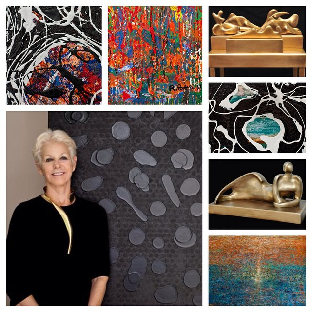 Stop by #PaulFisherGallery to see the unique work of Regina Porten, a nationally-renowned, locally-based sculptor and painter. Her exhibit will be on display from now until March 6. #DowntownWPB #ilovewpb #art #sculptures #bronze #painting #abstract