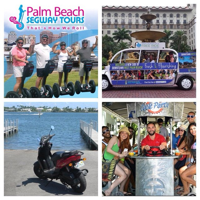 #TBT: Last week we gave you a quick glimpse of some of the unique ways to get around in #DowntownWPB. Now learn how you can take advantage of them! bit.ly/ActiveWPB