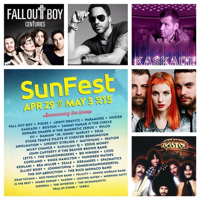 Some of the biggest names in music - past, present and future - will be rocking out in #DowntownWPB at this year's @sunfest! Who are you most excited to see? #ilovewpb #livemusic #sunfest #SoFlo