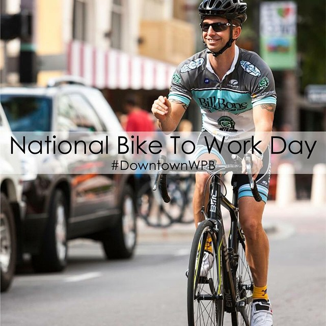 Tomorrow is #NationalBiketoWorkDay! Share your ride with us #DowntownWPB #BikeMonth #ilovewpb #thepalmbeachesfl #thepalmbeaches #visitwpb #cycle #biketoworkday2015 #wpb #westpalmbeach