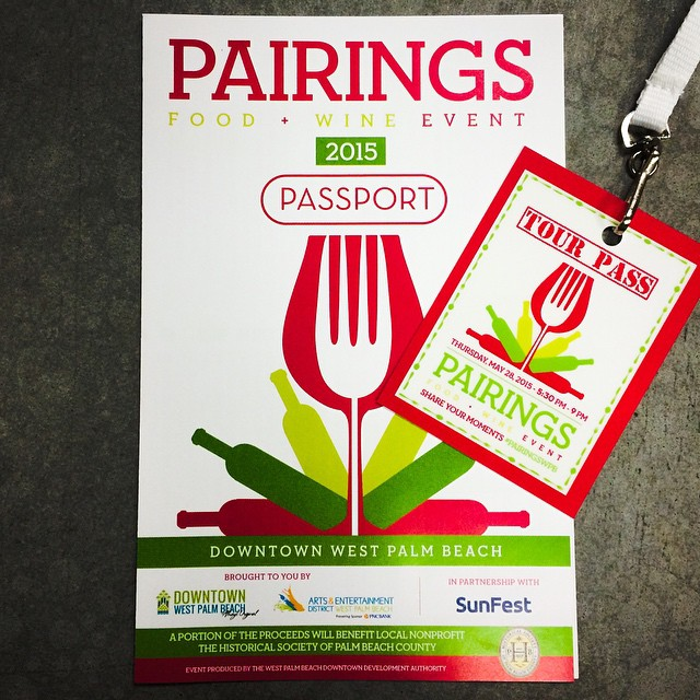 #PairingsWPB is here! Enjoy everything you need to delight the senses. Dine, Sip and Shop in #DowntownWPB. The tour begins at registration located at City Center Courtyard (401 Clematis St.). #ilovewpb #foodie #foodandwine