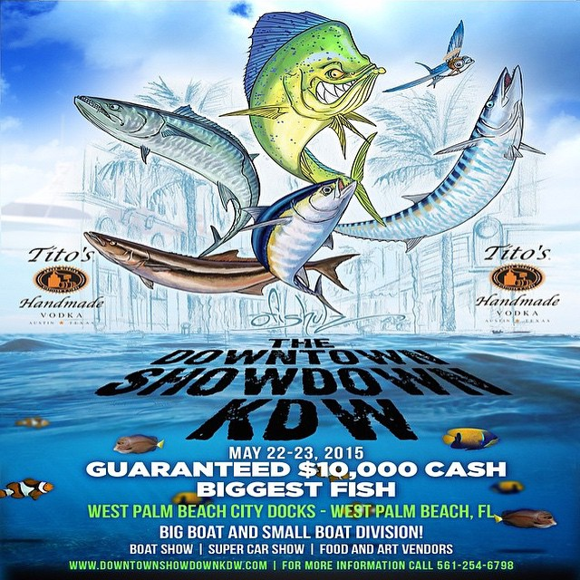 The biggest fishing tournaments #DowntownWPB has ever seen takes place this Saturday. Come down and enjoy the Downtown Showdown KDW. There will be live music, food trucks, kids zone, amazing boats and super cars. See who will WIN $10,000 for the biggest catch. More details: DowntownWPB.com. #downtownwpb #ilovewpb #fishing #downtownshowdownkdw