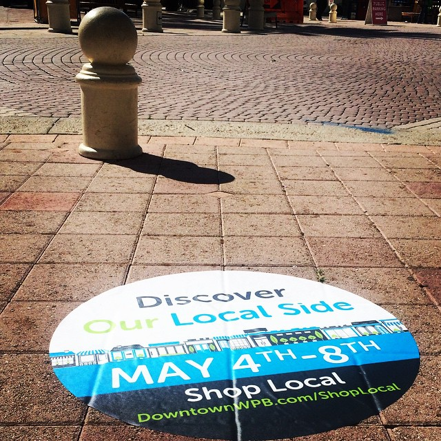 What's that you see?  Oh just a friendly reminder that National Small Business Week is next week. Discover the LOCAL side of Downtown West Palm Beach.  Don't forget to share your experience using #SBW2015WPB